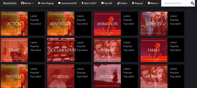 moviezion movie streaming site