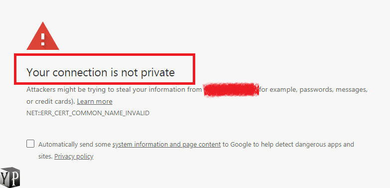phone says your connection is not private