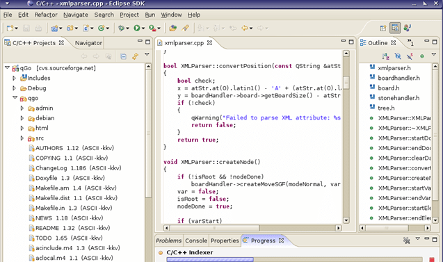 Eclipse CDT ide screenshot