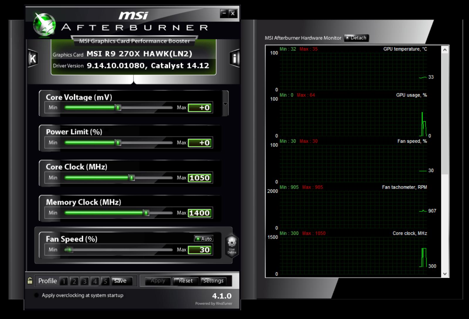 msi afterburner interface