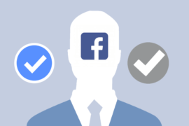 verify facebook page blue and grey tick