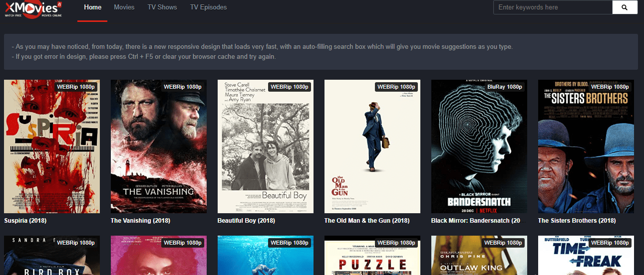 Xmovies8 website for online movies